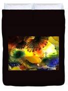 Golotha Glass Flowers Duvet Cover