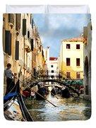Gondola 158-venice Duvet Cover