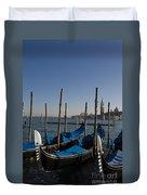 Gondolas In The Bacino Di San Marco Duvet Cover