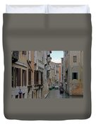 Gondolas On Backstreet Canal Duvet Cover