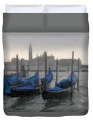 Gondolas On Grand Canal Duvet Cover