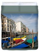 Gondolas On The Grand Canal Duvet Cover