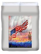 Gone But Not Forgotten Military Memorial Duvet Cover