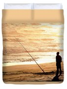 Gone Fishin' Instead Of Just A-wishin' Duvet Cover