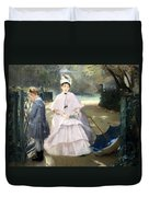 Gonzales' Nanny And Child Duvet Cover