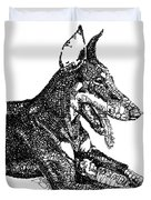 Good Dog Duvet Cover by Michael Volpicelli