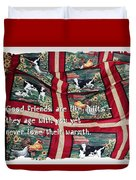 Good Friends Are Like Quilts Duvet Cover