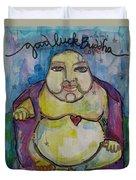 Good Luck Buddha Duvet Cover
