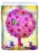 Good Luck Tree Duvet Cover by Mo T