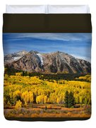 Good Morning Colorado Duvet Cover