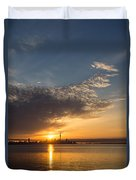 Good Morning Toronto With A Glorious Sunrise Duvet Cover