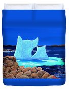 Goodbye Greenland Duvet Cover