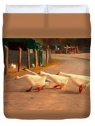 Goose Crossing Duvet Cover