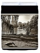 Goose In Central Park Nyc Duvet Cover