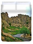 Goreme Open Air Musuem With Six Early Christian Churches In Capp Duvet Cover