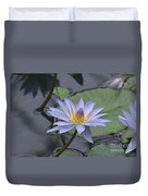 Gorgeous Pale Lavender Water Lily Duvet Cover