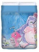 Gorilla Cartoon Duvet Cover