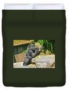 Gorilla Eats Duvet Cover