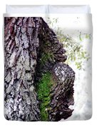 Gorilla Face In The Tree Duvet Cover