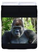 Gorilla Headshot Duvet Cover