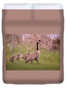 Goslings On A Walk Duvet Cover