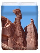 Gossips At Arches National Park Duvet Cover