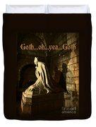 Goth Poster Duvet Cover