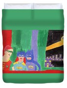 Gotham Heroes  Duvet Cover by Don Larison