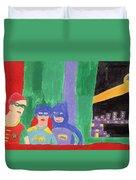 Gotham Heroes  Duvet Cover