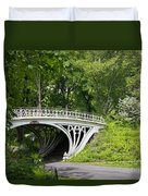 Gothic Bridge In Central Park Duvet Cover