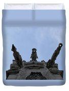 Milan Gothic Cathedral Gargoyles Duvet Cover