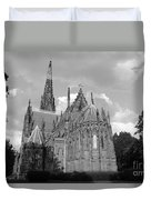 Gothic Church In Black And White Duvet Cover
