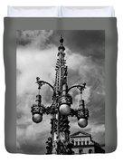 Gothic Lamp Post In Barcelona Duvet Cover