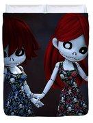 Gothic Rag Dolls Duvet Cover