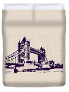 Gothic Victorian Tower Bridge - London Duvet Cover