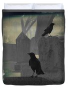 Gothic Winter Blackbirds Duvet Cover