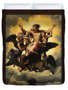 Gottvater In Wolken Duvet Cover
