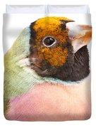 Gouldian Finch Erythrura Gouldiae Duvet Cover
