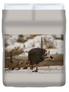 Gould's Wild Turkey Xi Duvet Cover