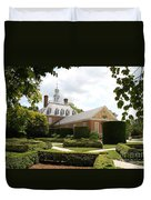 Governers Palace Garden Colonial Williamsburg Va Duvet Cover