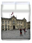 Government Palace Guards In Lima Duvet Cover
