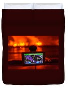 Gps With The Holuhraun Fissure Eruption Duvet Cover