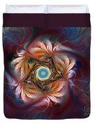 Grace And Elegance-floral Fractal Design Duvet Cover by Karin Kuhlmann