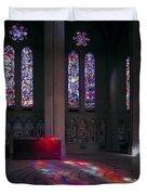 Grace Cathedral Walking Labyrinth - San Francisco Duvet Cover