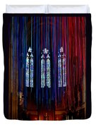 Grace Cathedral With Ribbons Duvet Cover