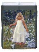 Grace In The Fairy Garden Duvet Cover