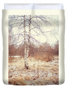 Grace In The Snow. Winter Poems Duvet Cover