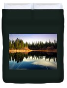 Grace Lake Northern California Duvet Cover