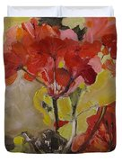 Graceful Geraniums Duvet Cover