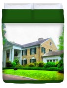 Graceland Mansion Duvet Cover